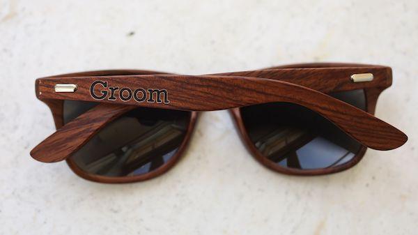 groom's wood grained sunglasses