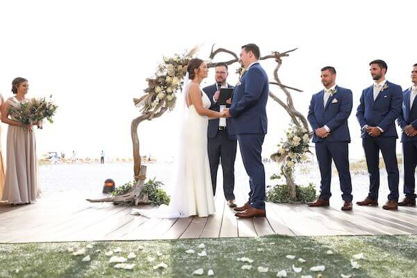 outdoor beach wedding ceremony at the Sandpearl Resort on Clearwater Beach
