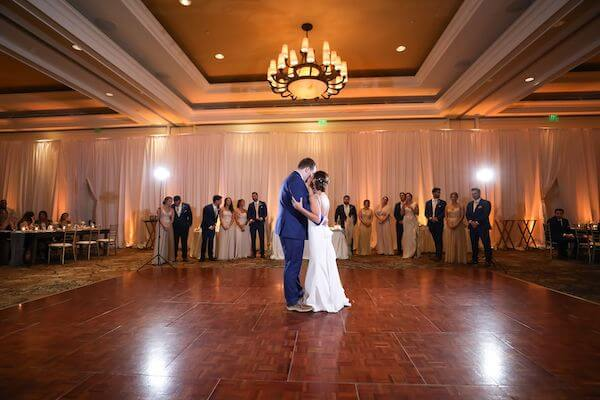 bride and groom's first dance at the Sandpearl Resort on Clearwater beach
