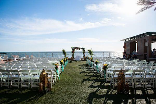 Outdoor wedding ceremony at the Opal Sands Resort on Clearwater Beach
