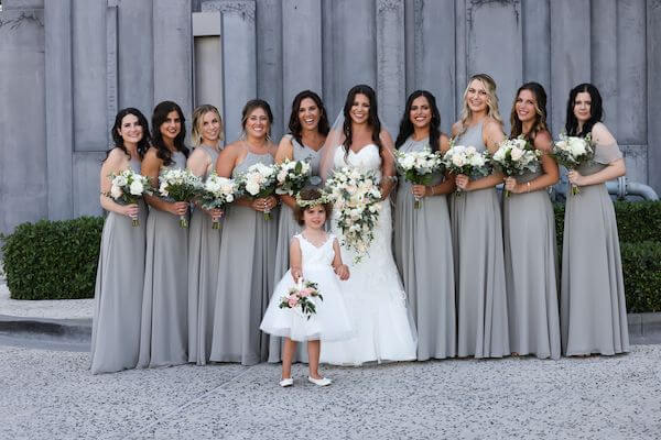 bride with her bridal party at the Opal Sands Resort on Clearwater beach