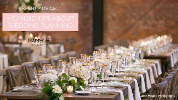 cover of Marry Me Tampa Bay article 7 Candid Tips About Wedding Planning
