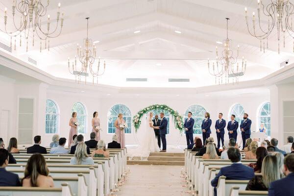 Harborside wedding chapel wedding featured in Marry Me Tampa Bay