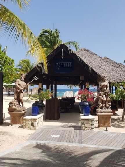 Neptune's Mediterranean Seafood Restaurant right on the beach