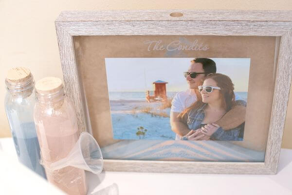 custom box for a couple's sand ceremony
