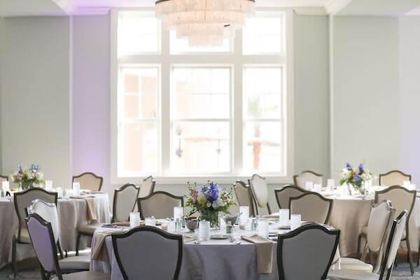 wedding reception inside the Fenway Hotel's Caladesi Ballroom
